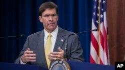 Министр обороны США Марк Эспер (архивное фото)