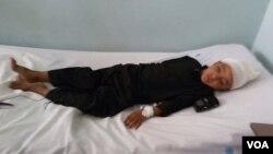 وحید احمد، هفت ساله، دو روز قبل بعد از لت و کوب توسط ملا امام مسجد در شفاخانه بستری شد.