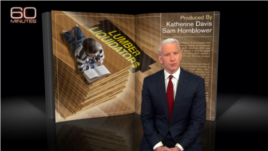 China Made Tainted Flooring CBS 「60分鐘」節目曝光中國造地板甲醛超標(CBS視頻截圖)