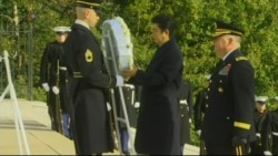 Japanese PM Abe Lays Wreath at Arlington National Cemetery