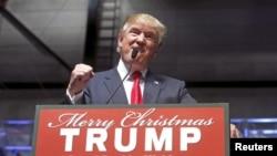 도널드 트럼프 미국 공화당 대선 후보가 지난 21일 미시간주 그랜드라피즈에서 유세를 벌이고 있다.