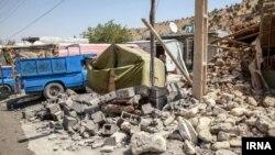 خسارات زلزله در شهر تازه آباد استان کرمانشاه