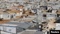 A general view shows al-Zaatari refugee camp in the Jordanian city of Mafraq, near the border with Syria, March 7, 2016. Since the beginning of the Syrian crisis, 50-80 Syrian children have been born in the Zaatari refugee camp each week, according to the official website of UNHCR.