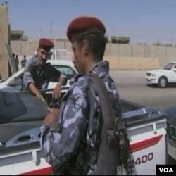 Irački vojnici na jednom od kontrolnih punktova