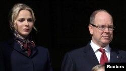 Monaco ႏိုင္ငံရဲ႕ ဥေသွ်ာင္ Prince Albert II နဲ႔ ဇနီးျဖစ္သူ Princess Charlene (သတင္းဓာတ္ပံု - ဇန္န၀ါရီ ၂၇၊ ၂၀၂၀)