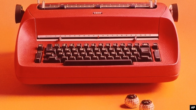 FILE - International Business Machines Corp. (IBM) the Selectric color typewriter, circa 1960's