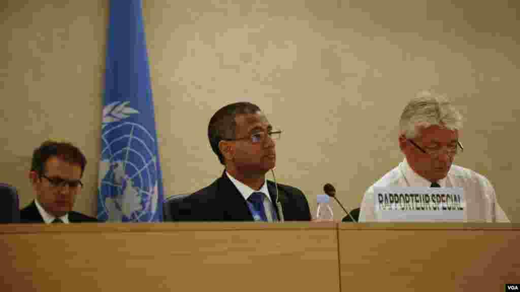 جلسه ویژه بررسی وضعیت حقوق بشر در ایران در سی و یکمین شورای حقوق بشر سازمان ملل در ژنو برگزار شد. در این جلسه احمد شهید، گزارشگر ویژه حقوق بشر در ایران بار دیگر افزایش اعدامها و فشار و سرکوب بر اقلیتهای مذهبی در ایران را محکوم کرد. به گفته آقای شهید در سال ۲۰۱۵ حدود ۹۶۶ نفر در ایران اعدام شدهاند که ۵۰۰ نفر از اعدام شدگان مرتبط با جرایم مواد مخدر بودهاند. جزئیات بیشتر را اینجا بخوانید.