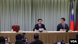 台灣外交部2018年5月1日緊急召集國際記者會(美國之音記者楊明)