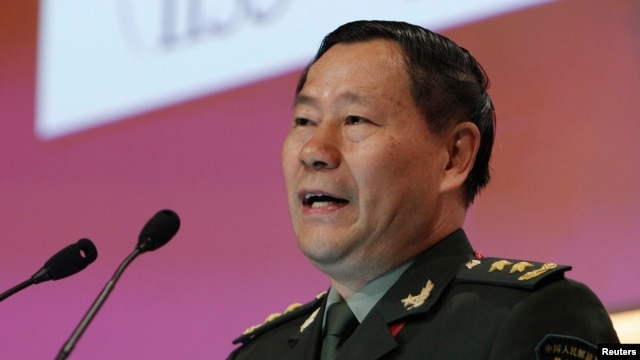 China's People's Liberation Army Deputy Chief of General Staff, Lieutenant General Qi Jianguo, speaks during the fourth plenary session of the 12th International Institute for Strategic Studies Asia Security Summit: in Singapore, June 2, 2013.