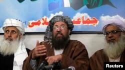巴基斯坦塔利班谈判代表在伊斯兰堡举行记者会。(2014年2月4日)
