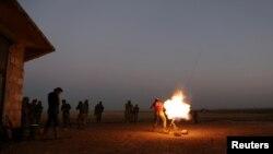 在阿勒頗北部的反叛武裝還擊