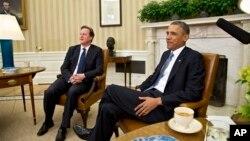 Дэвид Кэмерон и Барак Обама. Белый дом, Вашингтон. США. 13 мая 2013 г.