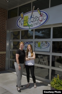 Katie Weiford and her mother, Sheila, are opening Kookiedoodle Krafts in Kansas City together. (Courtesy Katie Weiford)