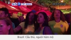 Cầu thủ, người hâm mộ đội bóng Brazil não nề thất vọng (VOA60)