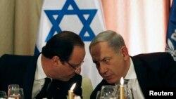 Франсуа Олланд и Биньямин Нетаньяху