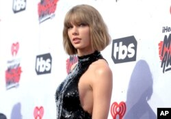 Taylor Swift en los iHeartRadio Music Awards. Inglewood, California, abril 3, 2016.