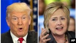Hai ứng cử viên Tổng thống Mỹ Donald Trump (T) và Hillary Clinton.