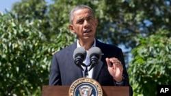 美國總統奧巴馬8月15日在渡假地瑪莎葡萄園就埃及問題發表聲明