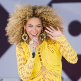 Beyonce performing in New York earlier this month