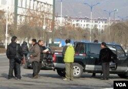 在图们市的中国和朝鲜商人
