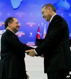 Başbakan Erdoğan, Irak Bölgesel Kürt yönetimi Başkan Mesud Barzani ile