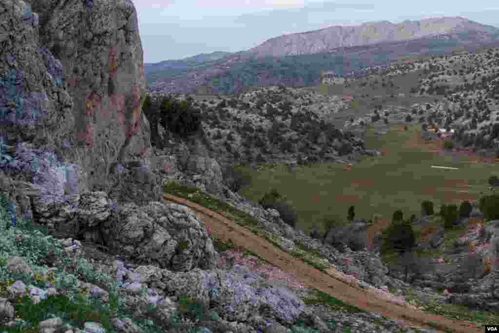 One of Lebanon's many mountain trails. The trails are part of a new drive to promote Lebanon's rural tourism offer. (John Owens for VOA News)