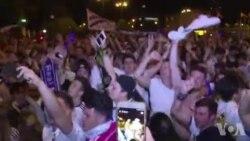 Les fans du Real Madrid célèbrent leur victoire (vidéo)