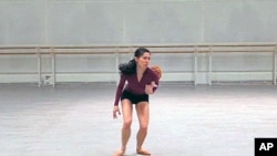 British charity dancer Mara Galeazzi teaches dance to children