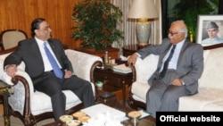 نگراں وزیراعظم کھوسو اور صدر زرداری کی ملاقات