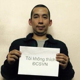 Blogger Lã Việt Dũng, người khởi xướng phong trào 'Tôi không thích Đảng cộng sản'
