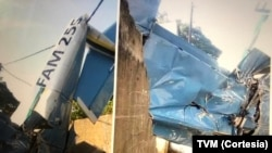 Avioneta das Forças Armadas,Maputo, imagem: TVM