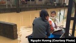 Lũ lụt tại Quảng Bình, ngày 31 tháng 10 năm 2016.