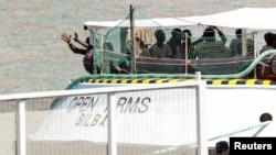 Kapal penyelamat milik kelompok bantuan Spanyol, Proaktiva di Barcelona, Spanyol. (Foto: dok),