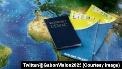 Un passeport pour les ressortissants des pays membres de la Communauté économique et monétaire d'Afrique centrale (Cémac), 17 octobre 2017. (Twitter/@GabonVision2025)