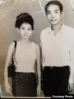 지난 1975년 캄보디아에서 찍은 아렌스 부모 사진.