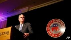 Jeb Bush hablando en Las Vegas, Nevada, el miércoles, 13 de mayo, de 2015.