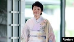 Haruko Arimura, ministre japonaise de l'Egalité des genres et de la promotion de la femme arrivant dans la résidence officielle du Premier ministre Shinzo Abe à Tokyo, le 3 septembre 2014. (REUTERS/Yuya Shino)