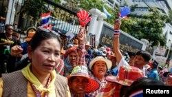 Nông dân tham gia biểu tình yêu cầu chính quyền của Thủ tướng Yingluck giải quyết tình trạng thanh toán tiền chậm, 3/3/14