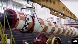 """Фото випробовування підводного дрона """"Посейдон"""", зроблене з відео Міністерства оборони Росії (АР)"""