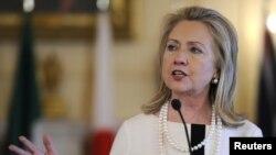 La secretaria de estado Hillary Clinton