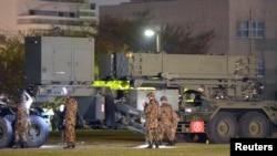 日本東京日本自衛隊和(PAC-3)導彈系統。