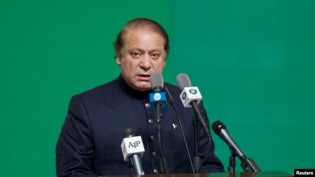 FILE - Prime Minister Nawaz Sharif.