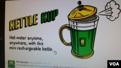 Bianca Polizzi's kettle cup model will make it easy for people to drink tea and coffee. (Photo: Bianca Twitter)