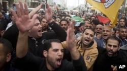 Người Palestine đưa tang Ibrahim Skafi, 22 tuổi, ở thành phố Bờ Tây Hebron, Thứ 5 ngày 5/11/2015.