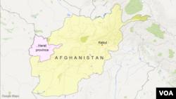 Letak provinsi Herat, Afghanistan.