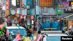 台湾总统蔡英文在大选前展开竞选活动。(2020年1月9日)