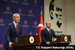 NATO Genel Sekreteri Stoltenberg ve Dışişleri Bakanı Çavuşoğlu