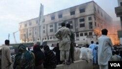 کراچی کی گارمنٹس فیکٹری میں آتشزدگی