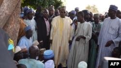 Gwamna Kashim Shettima na Jihar Borno a garin Benisheikh