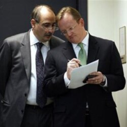 David Axelrod, left, with Robert Gibbs
